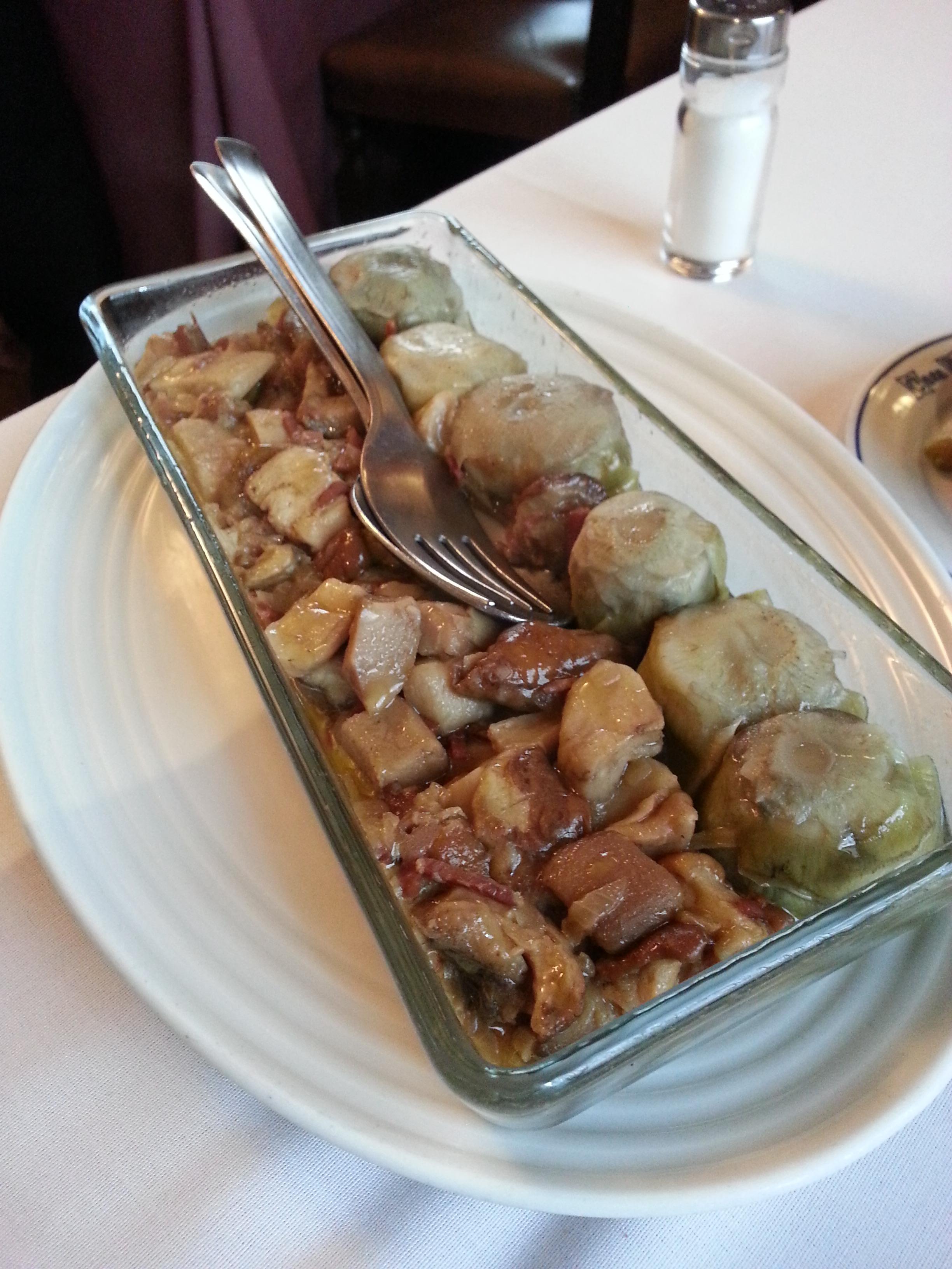 Alcachofas y boletus deliciosos!!