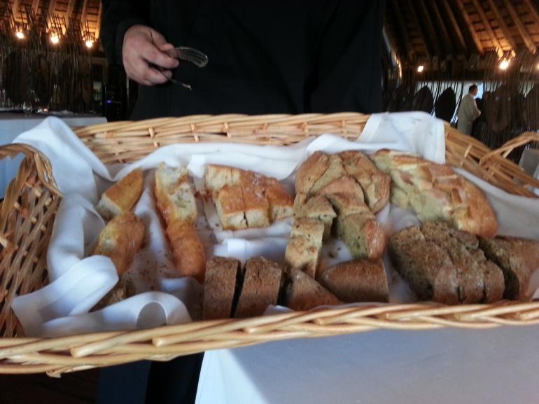 Servicio de pan y aceite en La Cabaña