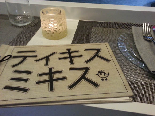 Carta de sushis