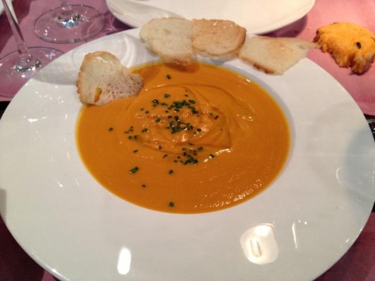 Crema de zanahoria con trufa