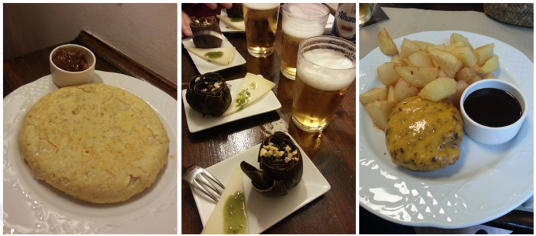 Tortilla y tapas en La Gustava