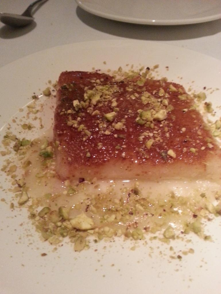 Kenafe: tarta de queso caliente
