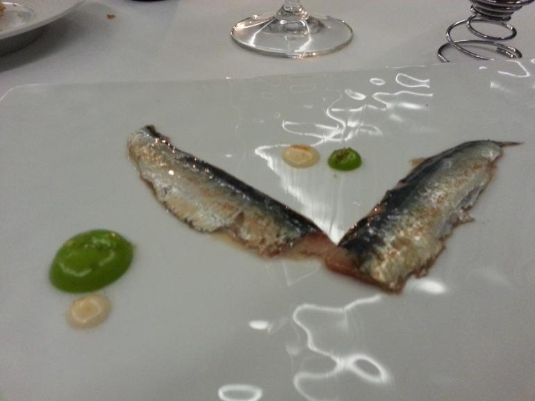 Sardinas con mayonesa de mojito y pescaito frito
