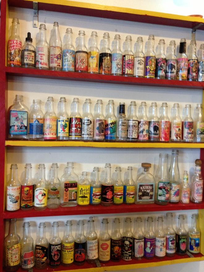 Colección de salsas picantes