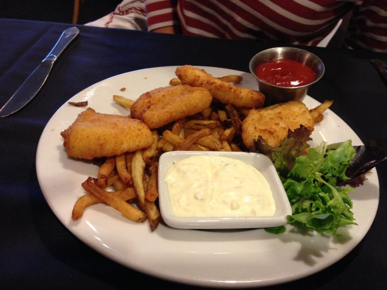 Fish and chips (de halibut)