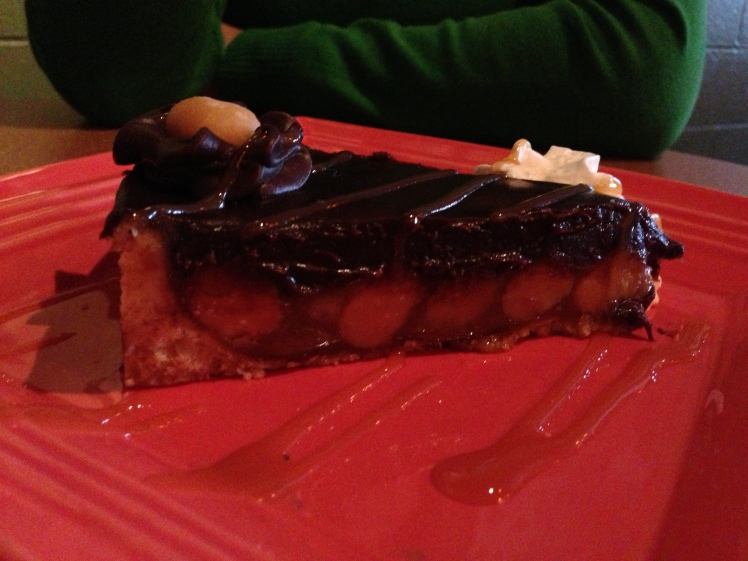 Macadamia turtle pie