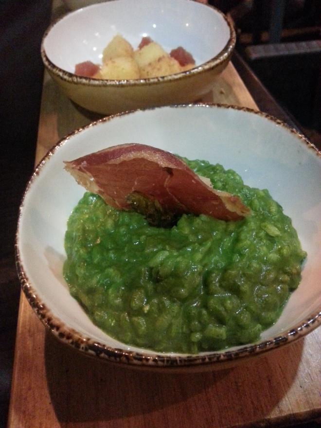 Risotto verde - Restaurante Slow Montecarmelo