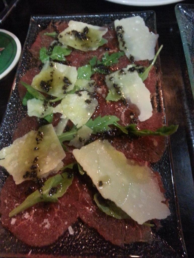 Carpaccio de ternera - Restaurante Slow Montecarmelo