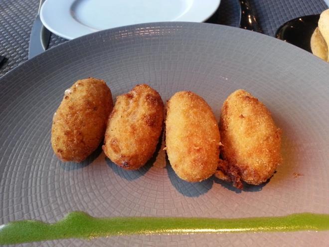 Restaurante Edulis - Croquetas de jamón y boletus