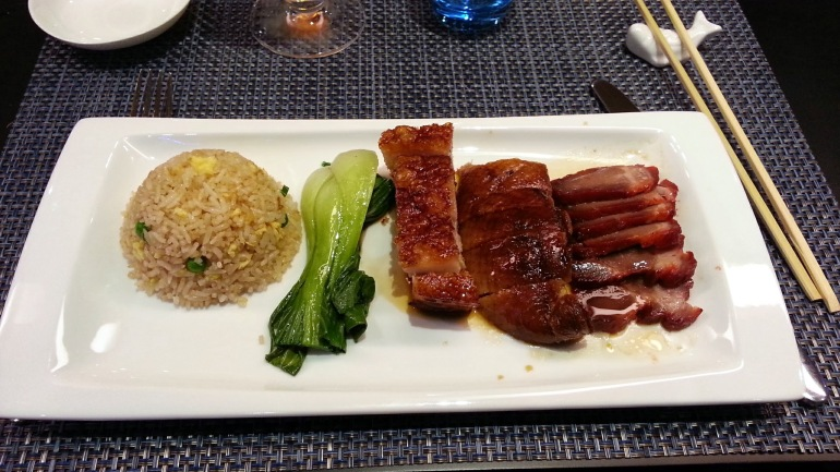 Tse Yang Dimsums Club - Plato de asados del menú cantonés