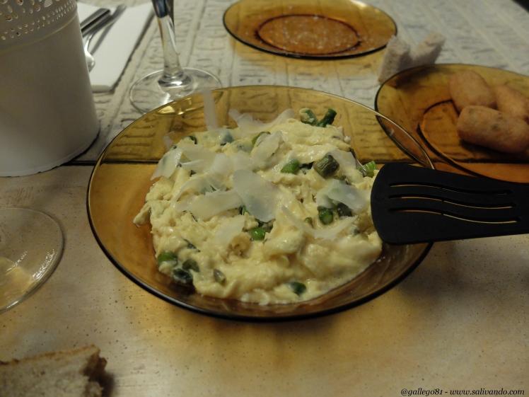 La Granja Rural Food - Revuelto italiano - Huevos, espárragos y parmesano.