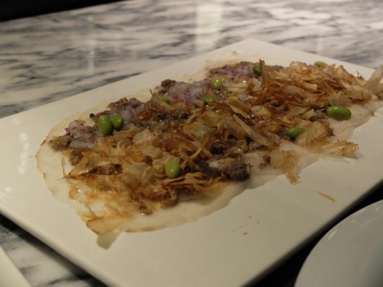 Restaurante IO - Tiradito de pez mantequilla