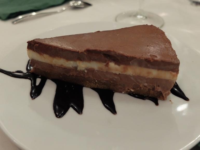 Restaurante El apartamento - Tarta de tres chocolates