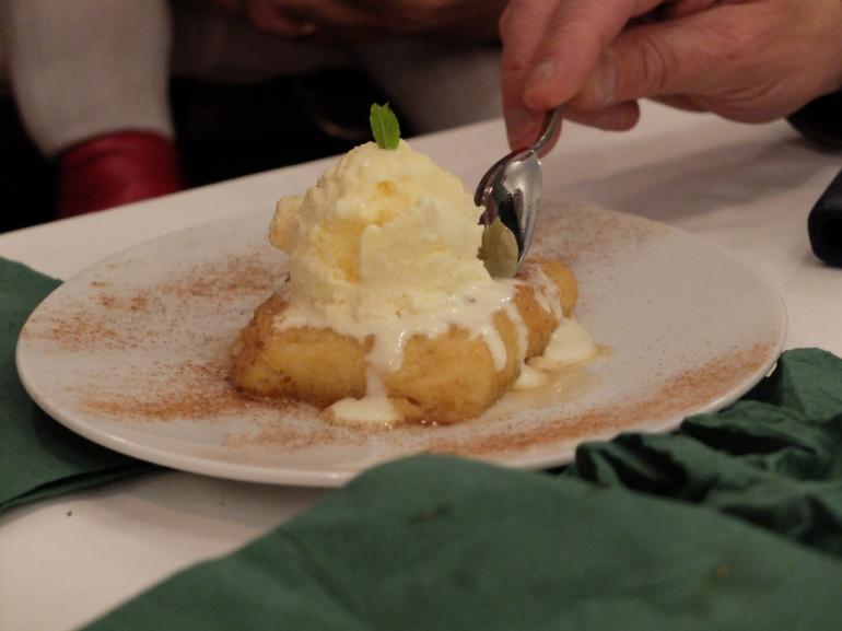 Restaurante El Apartamento - Torrija con helado