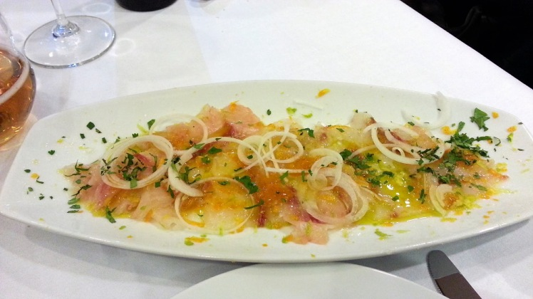 Restaurante The Market Madrid - Tiradito de Corvina