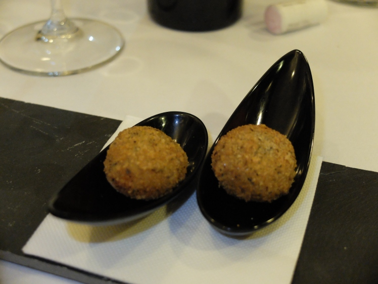 Restaurante The Market Madrid - Croquetas de aperitivo