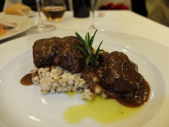 Restaurante The Market Madrid - Carrillera de ibérico al chocolate con cebada