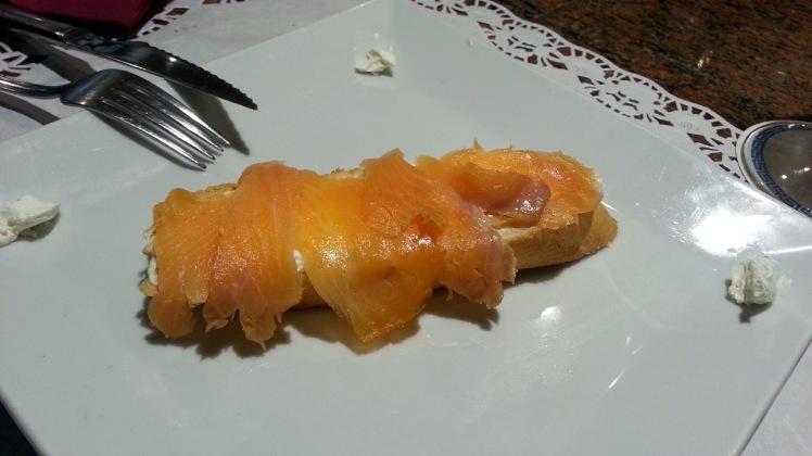 Café TRes Olivos - Canapé de salmón