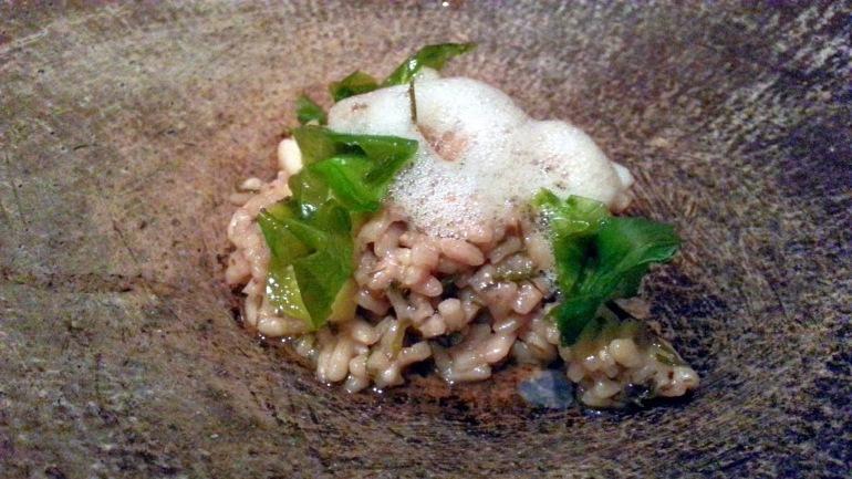 Restaurante Malabar - Arroz de concha con tuétano de res y yuzu