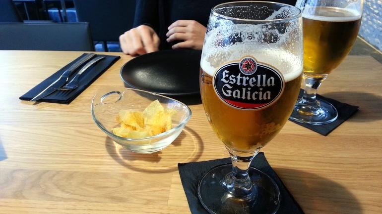 Restaurante Alabaster . Estrella de Galicia