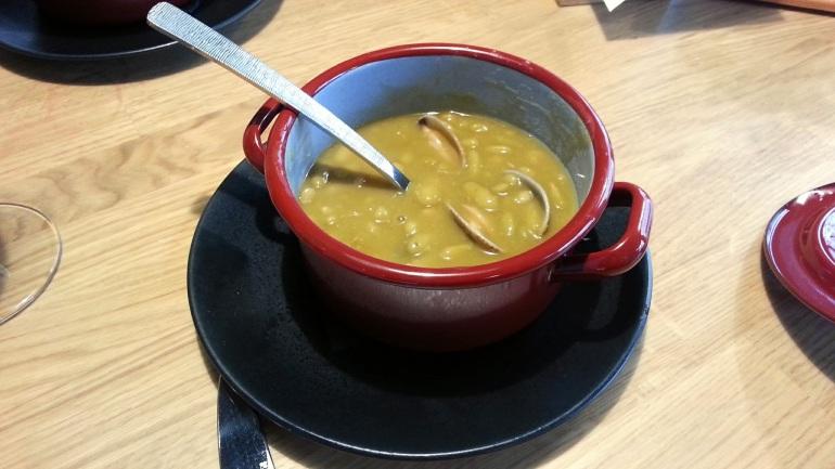 Restaurante Alabaster - Media ración de verdinas con almejas.
