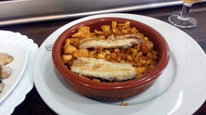 Restaurante Casa Tiburcio - Migas con boquerones