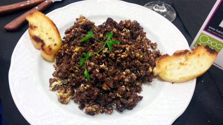Restaurante Casa Tiburcio - Revuelto de morcilla