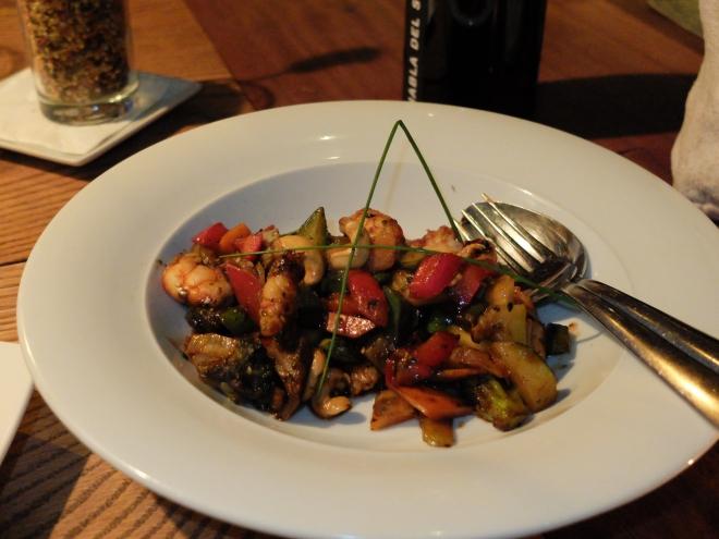 Lobbo wok verduras