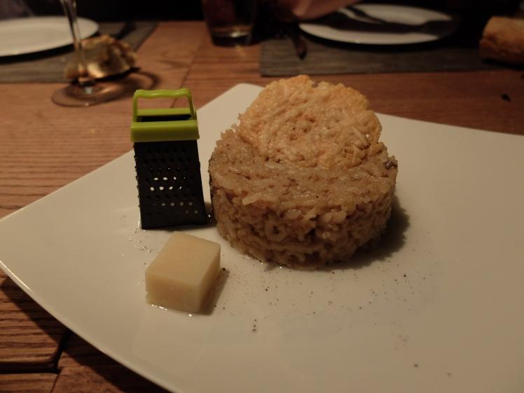 Lobbo risotto trufa parmesano