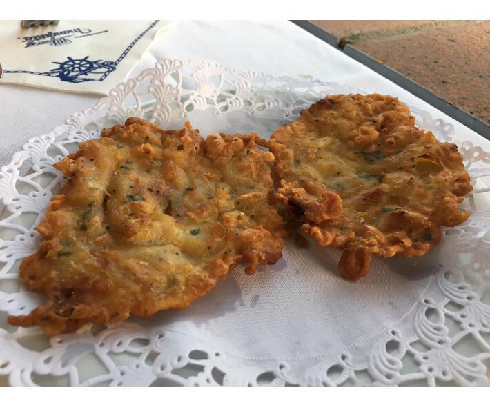manguita sancti petri tortillita de camarones
