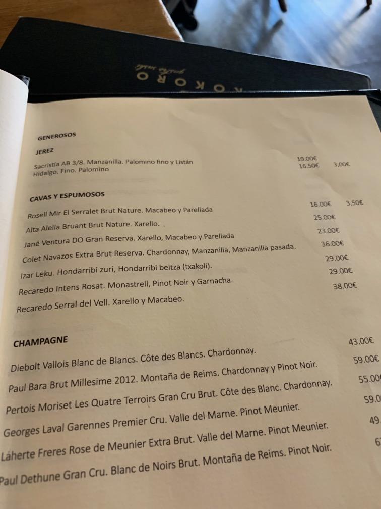 Kokoro Murcia - Carta